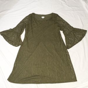 Olivia Matthews Olive Green Lace Dress Siz…